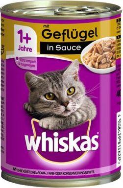 Whiskas 1+ konzerva 12 x 400 g - 1+ s hovězím a játry v omáčce