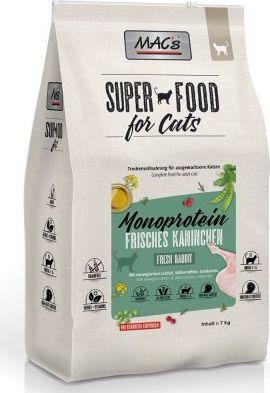 MAC's Superfood for Cat Adult Monoprotein Králík - 7 kg